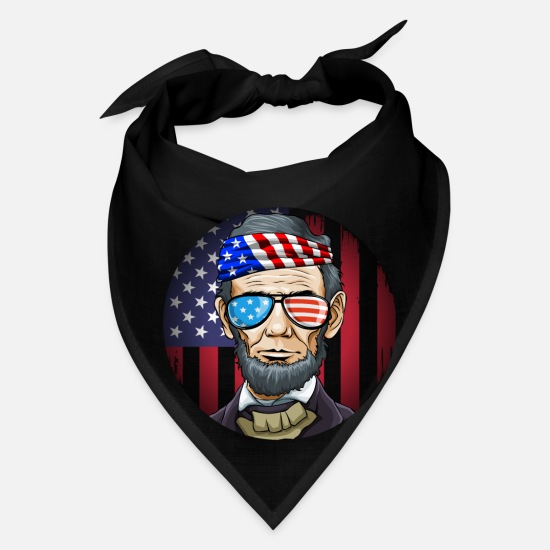 Lincoln Caps - Abraham Lincoln President on 4th Of July - Bandana black