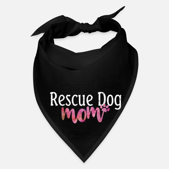 Mummy Caps - Cute Rescue Dog Mom Dog Mama Rescue Dog Womens T S - Bandana black