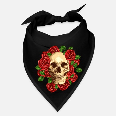 Wealthy Skulls flowers - Bandana