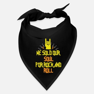 Heavy Metal Rock N Roll We Sold Soul Rocker Symbol Cool Gift - Bandana