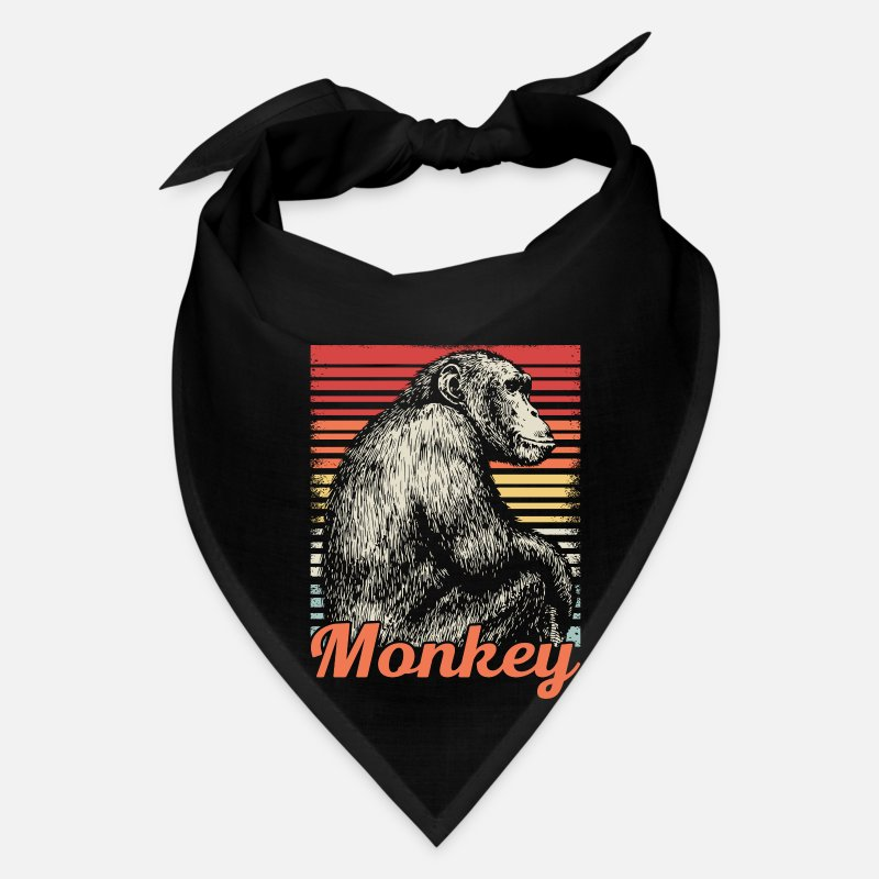 Banana Caps - Monkey Jungle Animal Zoo Safari Retro Cool Gift - Bandana black