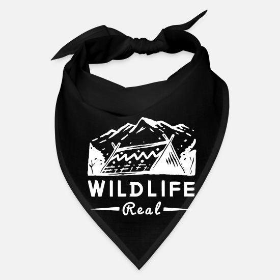 Mountain Biking Caps - Wild life mountain scene - Bandana black