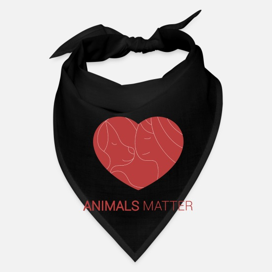 Animal Love Caps - Animals Matter Human and animals - Bandana black