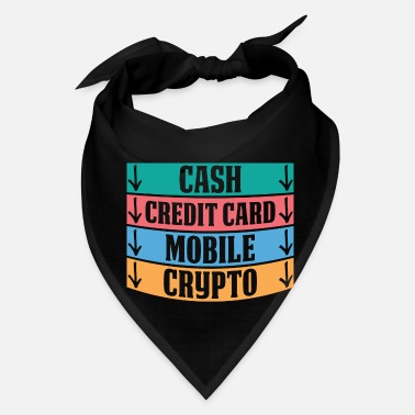 Credit Card Funny Cash Mobile Money Credit Card Crypto Funny Gift - Bandana