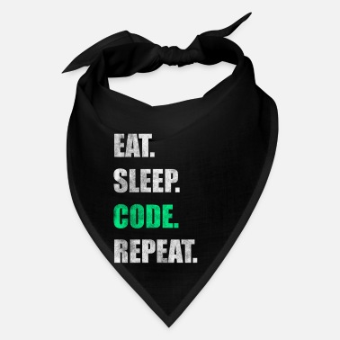 Code Eat Sleep Code Repeat Coding Funny Gift - Bandana