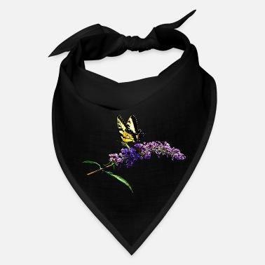 Attractive Swallowtail on Butterfly Bush - Bandana