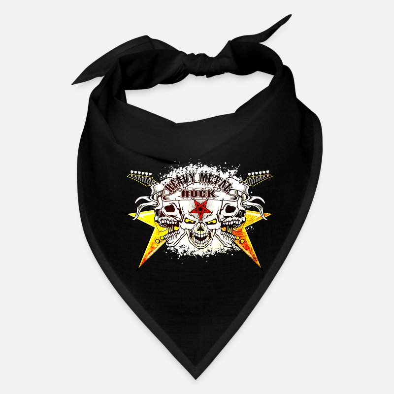 Birthday Caps - Heavy Metal Rock Skull - Bandana black