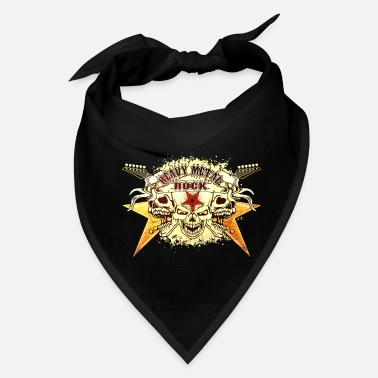 Metal Rock Heavy Metal Rock Skull - Bandana