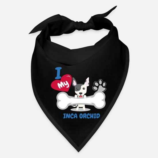 Dog Lover Caps - INCA ORCHID DOG LOVER - Bandana black