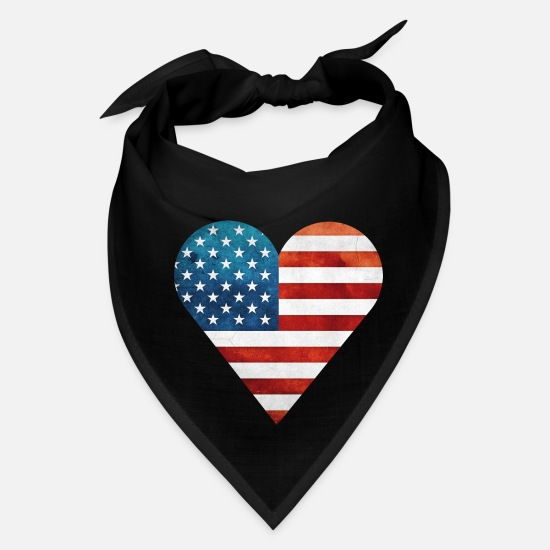 Birthday Caps - Heart of America - Bandana black