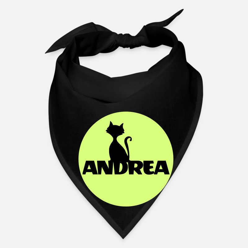 Gif Caps - Andrea First name Names gifts Christening gif - Bandana black