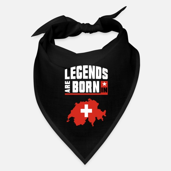 Zurich Caps - Legends are Born in Switzerland / Gift Swiss - Bandana black