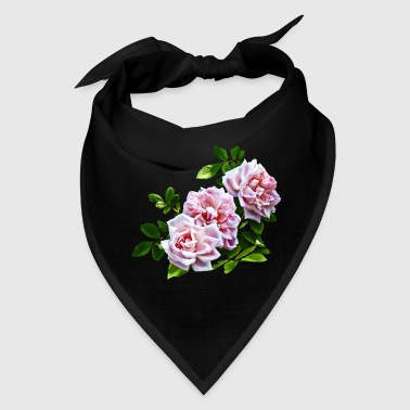 Three Pink Roses - Bandana