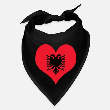 Albania Heart Albania Love country europe gift idea - Bandana