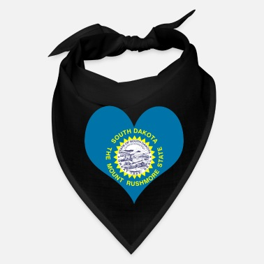 South America Heart South Dakota Love country America USA gift - Bandana