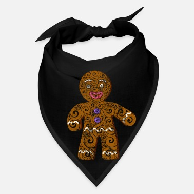 Pen Swirly Gingerbread Man - Bandana