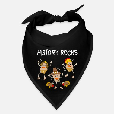 Black History Three History Rocks White - Bandana