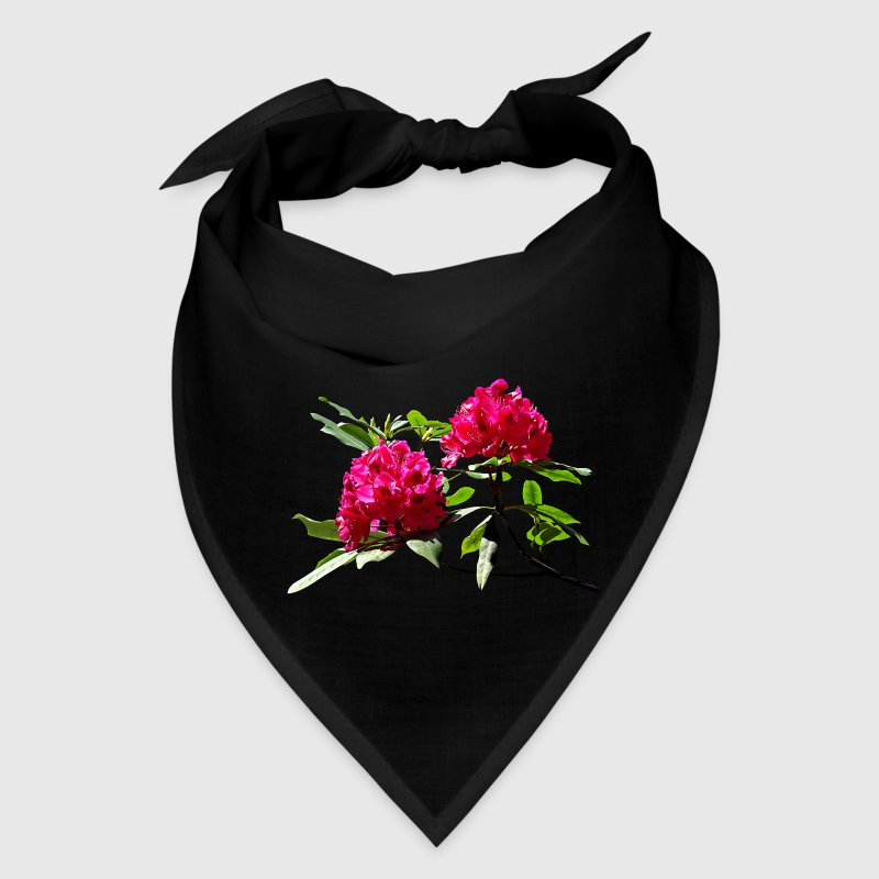 Two Dark Red Rhododendrons - Bandana