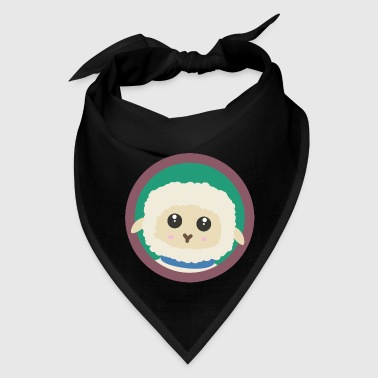 Cute Sheep with purple Circle - Bandana