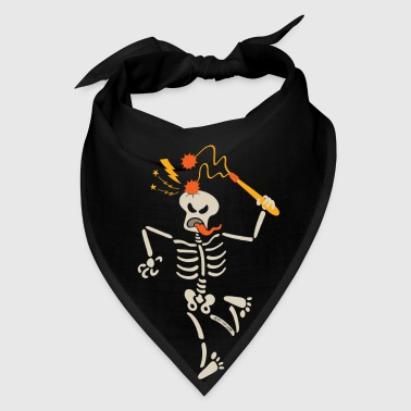 Skeleton breaking skull with ball and chain flail - Bandana
