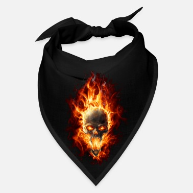 Fire Skull with fire - Bandana