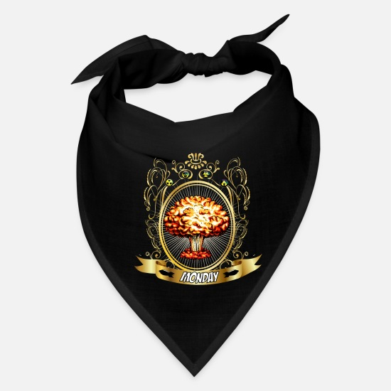 Cloud Caps - Atomic Explosion - Atomic Energy - Monday - Bandana black