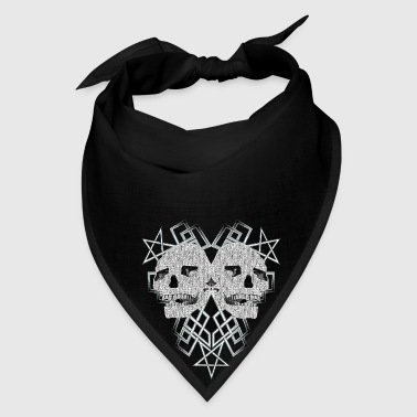 Pentacle and skulls 1 - Bandana