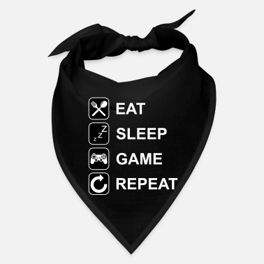 Gamer Eat Sleep Game Repeat - Bandana