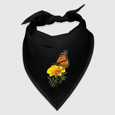 Monarch Butterfly on Marigold - Bandana