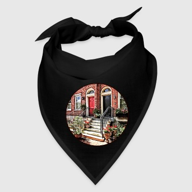 Neighborhood Philadelphia PA - Townhouse With Red Geraniums - Bandana