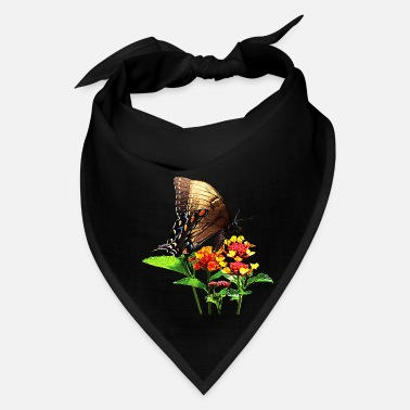 Attractive Swallowtail on Orange Lantana - Bandana