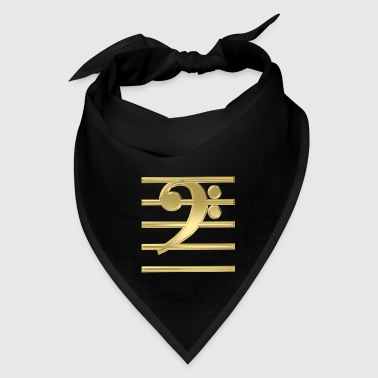Golden bass clef - Bandana