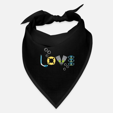 Water Sports diver snorkel love water sports hobby - Bandana