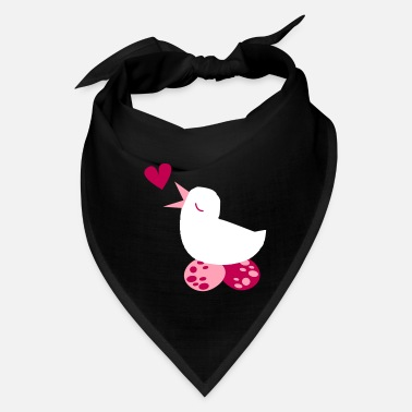 Pregnant tweeter love bird with cute eggs and a love heart - Bandana