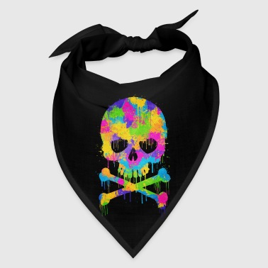 Trendy & Cool Abstract Graffiti Skull  - Bandana