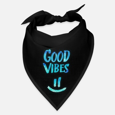 Mood Good Vibes - Funny Smiley Statement / Happy Face - Bandana