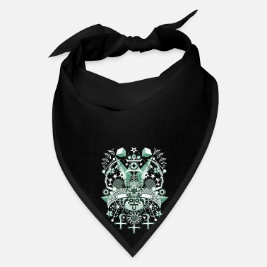 Ornament Gothic Green Egyptian 2 - Bandana