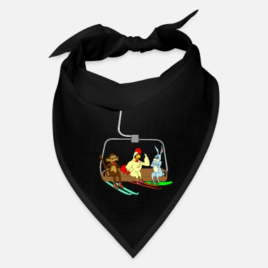 Ski Lift Ski lift animals ape rabbit skier funny kids gift - Bandana