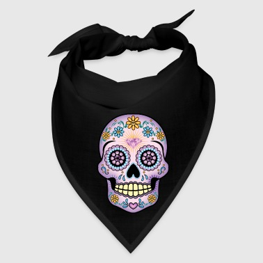 Purple Sugar Skull - Bandana