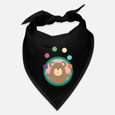 Juggling Juggling Brown Bear in circle - Bandana