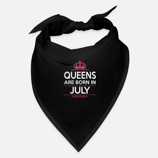 Women Caps - queens are born in july - Bandana black