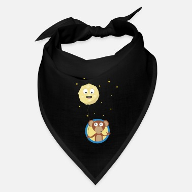 Asian Monkey with friendly moon on a rope Gift - Bandana