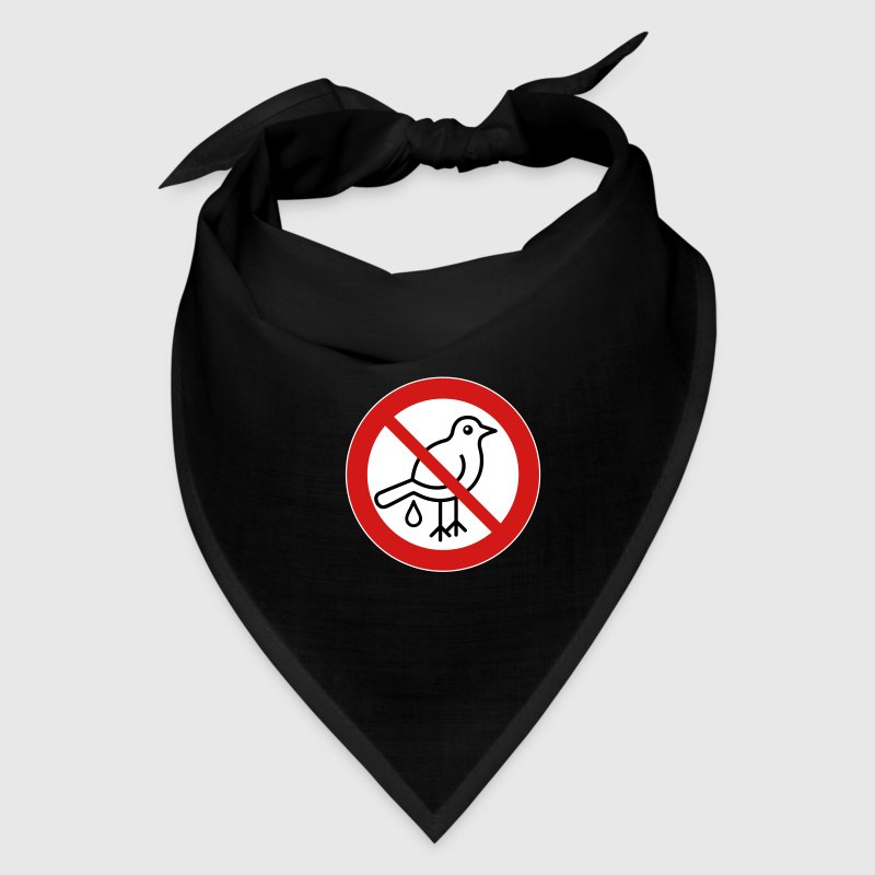 No Bird Droppings Sign 3cW - Bandana