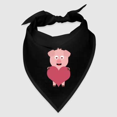 Pig with big Heart for Valentine Gift - Bandana