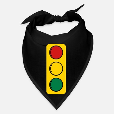Drive Go By Car traffic lights red amber and green - Bandana