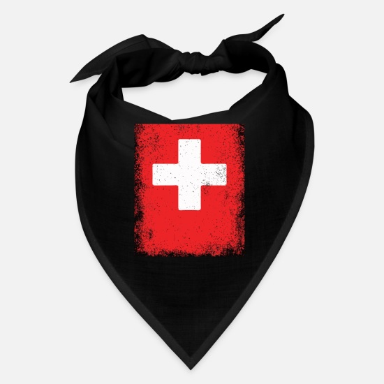 Boy Caps - Switzerland Flag Swiss Falg Schweizer Flagge Suise - Bandana black