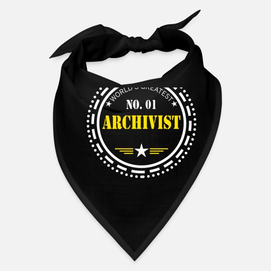 Library Caps - Archivist Books Library - Bandana black