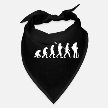 Hobby evolution Hiking mountains summit gift - Bandana
