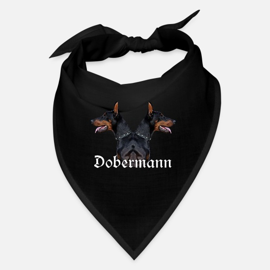 Doberman Caps - Doberman,Dog,dog head,dog face,dog breed,doge, - Bandana black