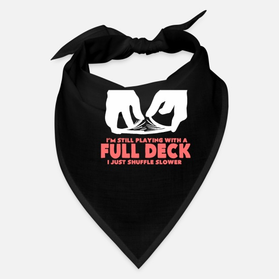 Vegas Caps - Funny Poker Gambling Quote - Bandana black
